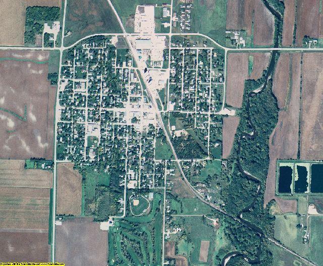 Palo Alto County, Iowa aerial photography