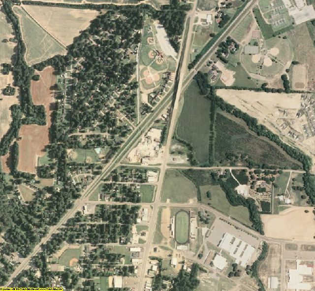 Panola County, MS aerial photography detail