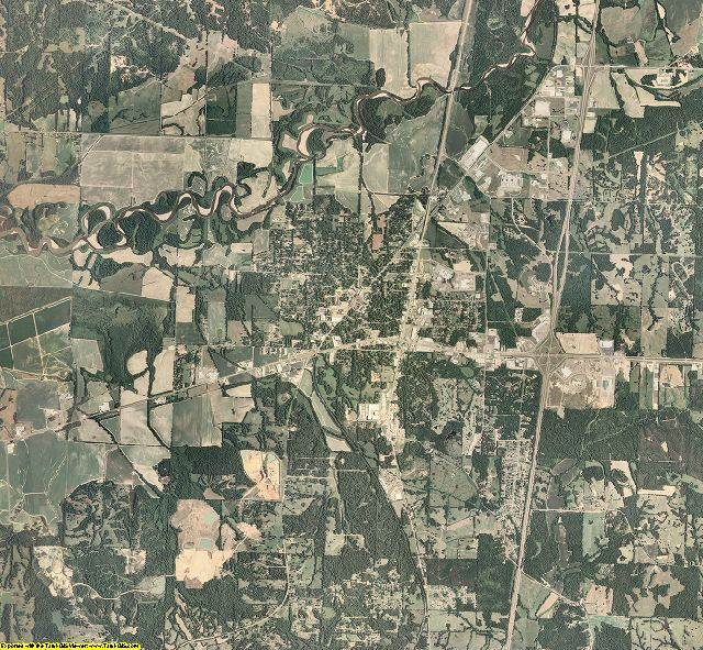 Panola County, Mississippi aerial photography