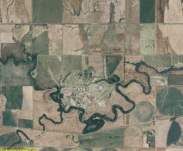 Pawnee County, Kansas aerial photography
