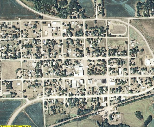 Pawnee County, NE aerial photography detail