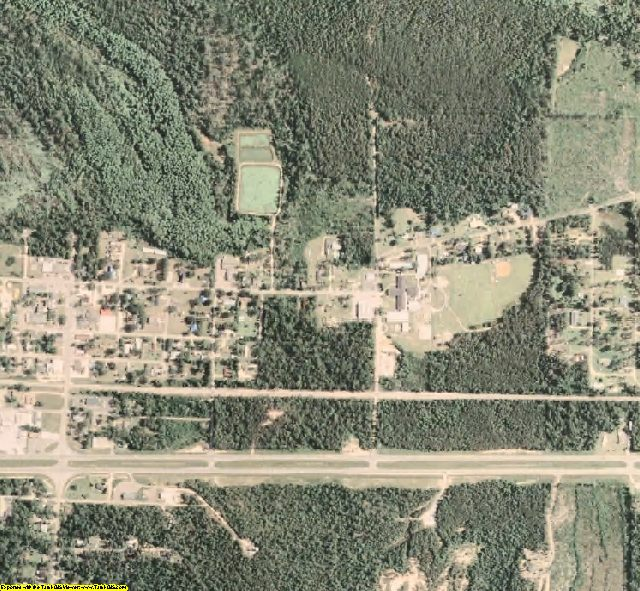 Perry County, MS aerial photography detail