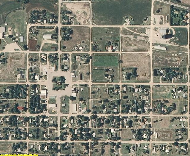 Phillips County, KS aerial photography detail