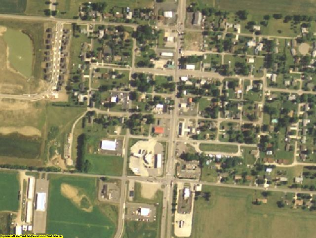 Pickaway County, OH aerial photography detail