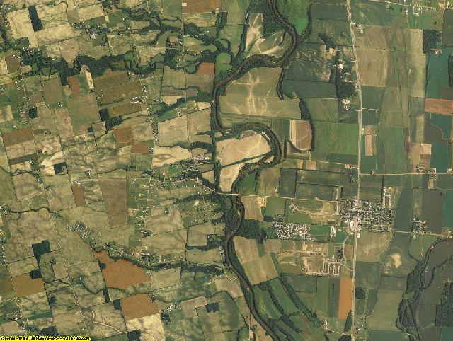 Pickaway County, Ohio aerial photography