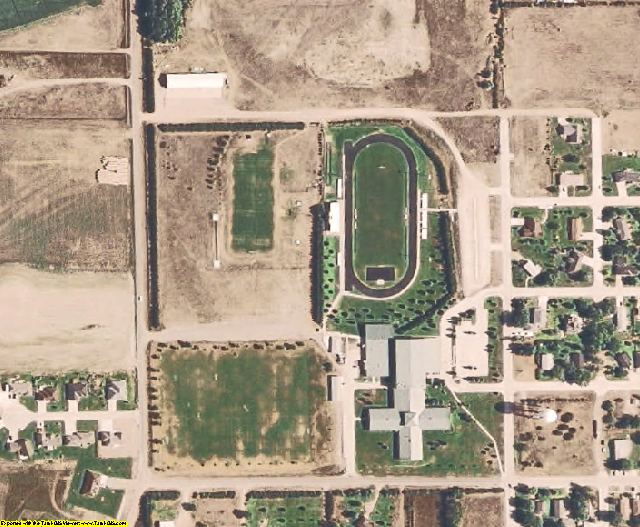 Pierce County, NE aerial photography detail
