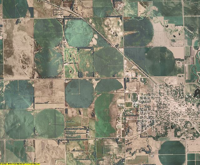 Pierce County, Nebraska aerial photography