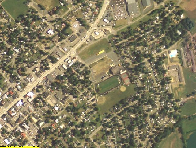 Pike County, OH aerial photography detail