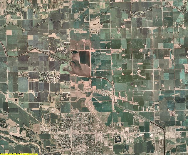 Platte County, Nebraska aerial photography