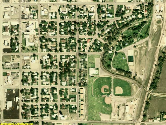 Platte County, WY aerial photography detail