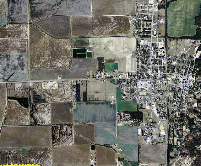 Poinsett County, Arkansas aerial photography