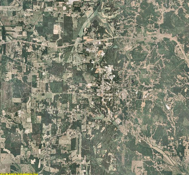 Pontotoc County, Mississippi aerial photography