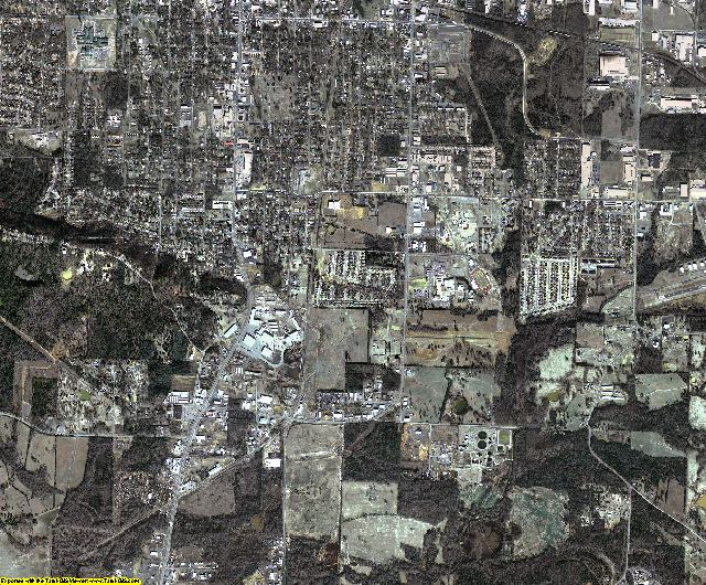 Pope County, Arkansas aerial photography