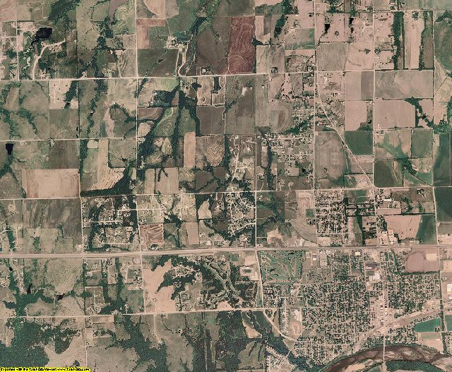 Pottawatomie County, Kansas aerial photography