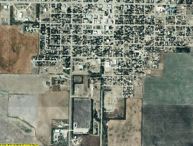 Potter County, SD aerial photography detail