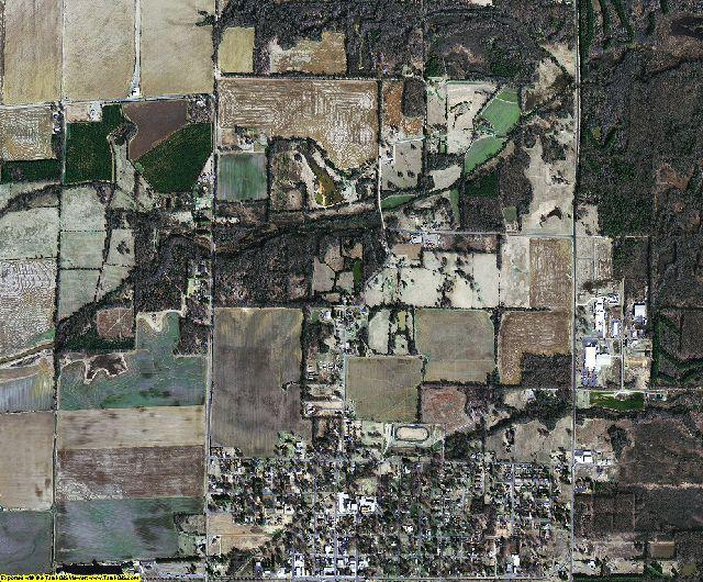Prairie County, Arkansas aerial photography