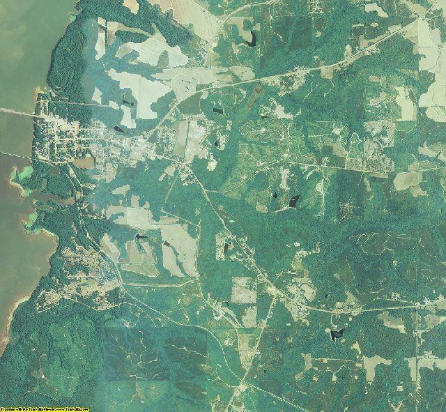 Quitman County, Georgia aerial photography