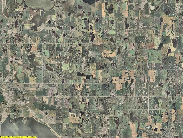 Ramsey County, North Dakota aerial photography