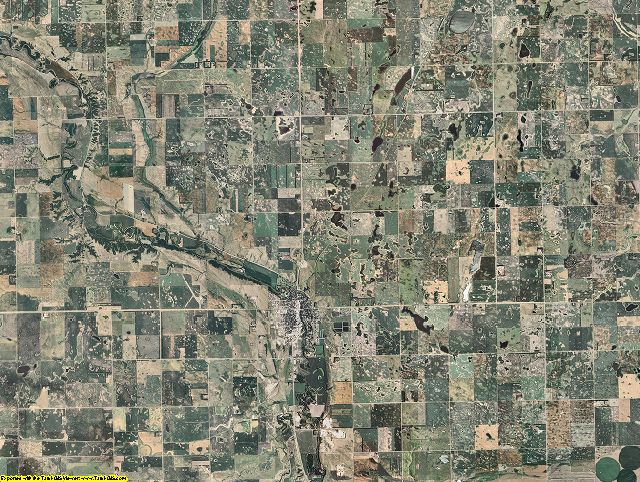 Ransom County, North Dakota aerial photography