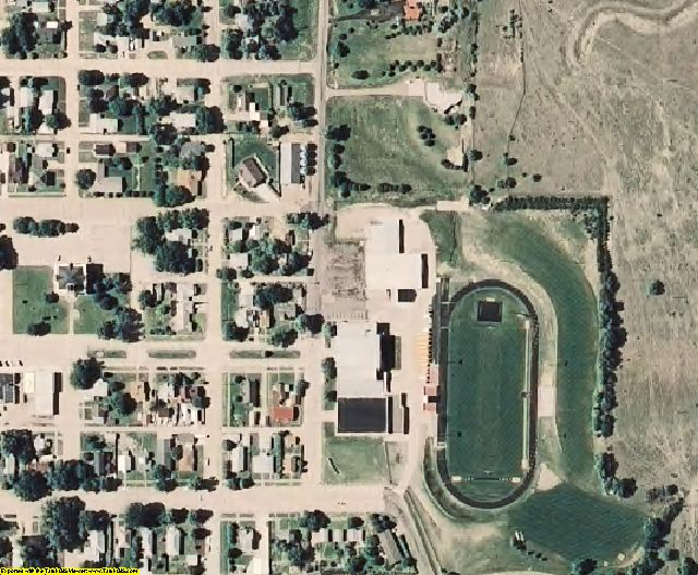 Rawlins County, KS aerial photography detail