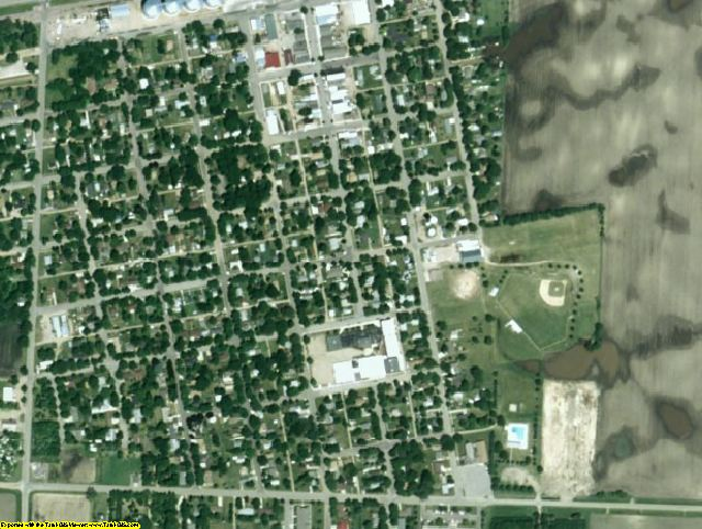 Redwood County, MN aerial photography detail