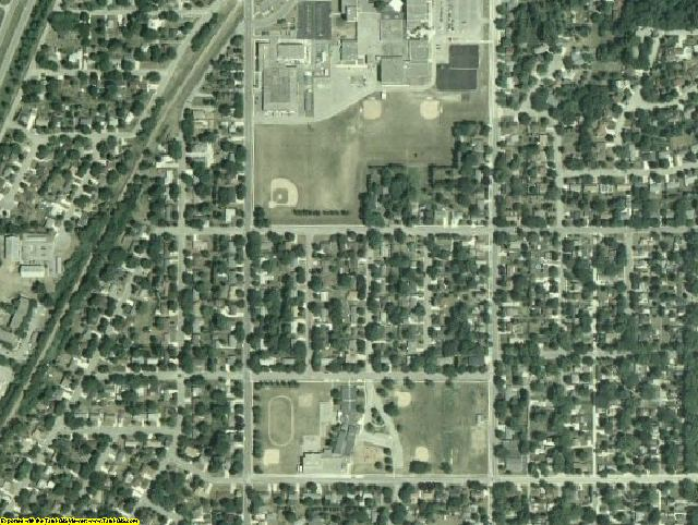 Rice County, MN aerial photography detail