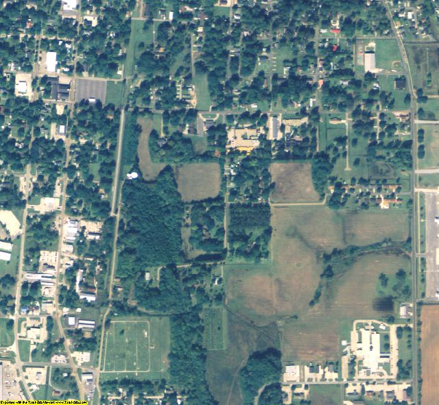 Richland County, LA aerial photography detail
