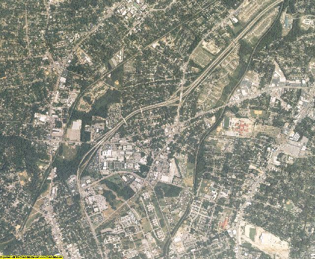 Richland County, South Carolina aerial photography