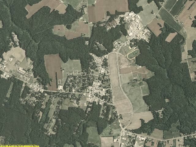Richmond County, Virginia aerial photography