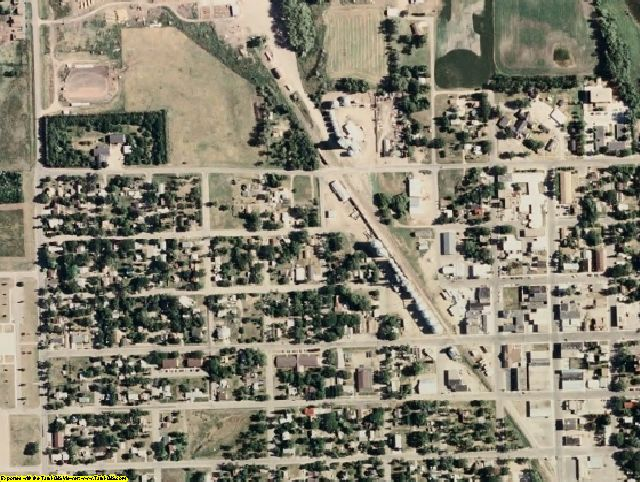 Roberts County, SD aerial photography detail