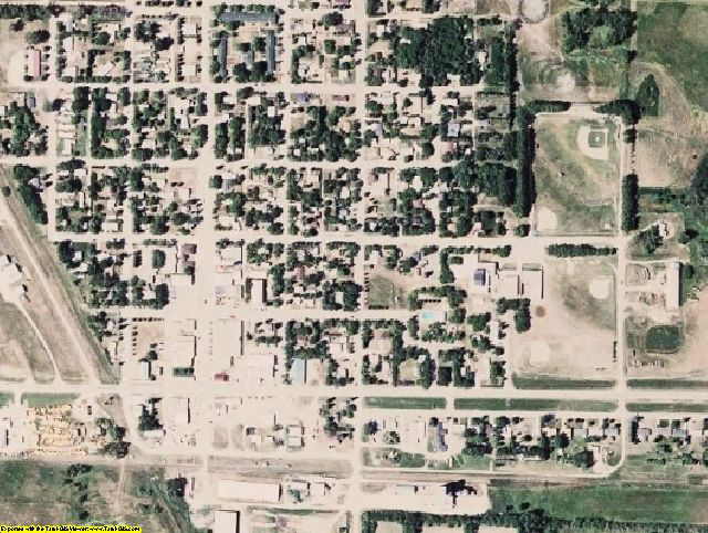 Rolette County, ND aerial photography detail