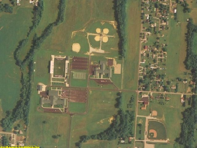 Scioto County, OH aerial photography detail