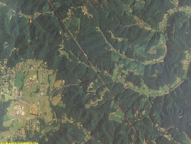Scioto County, Ohio aerial photography