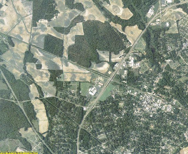 Scotland County, North Carolina aerial photography