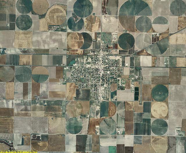 Scott County, Kansas aerial photography
