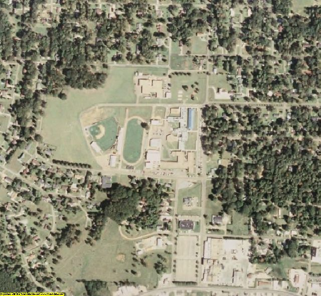 Scott County, MS aerial photography detail