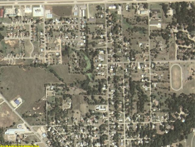 Seminole County, OK aerial photography detail