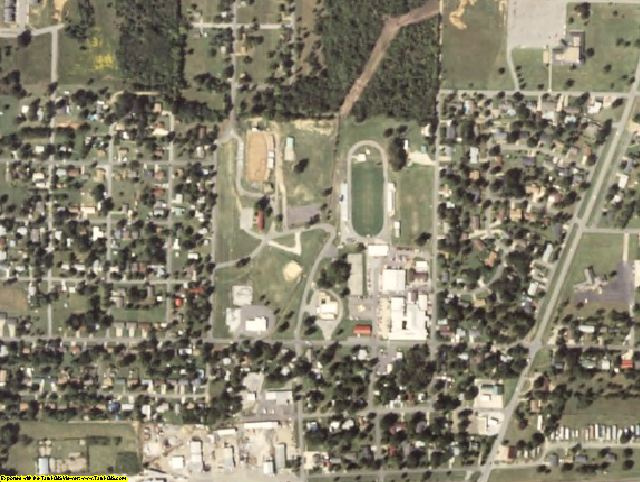 Sequoyah County, OK aerial photography detail