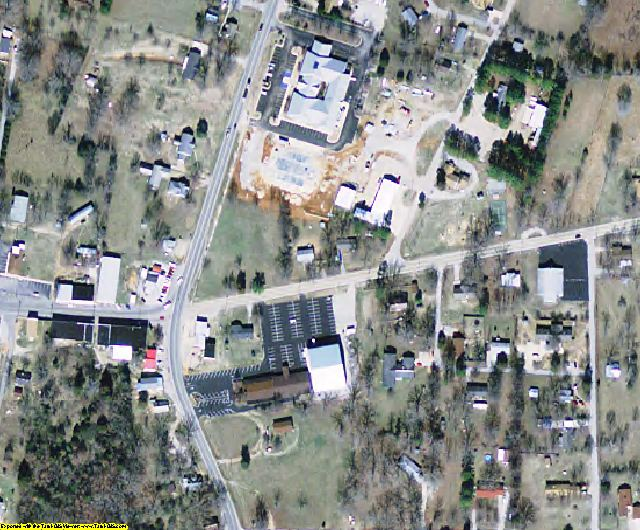Sharp County, AR aerial photography detail