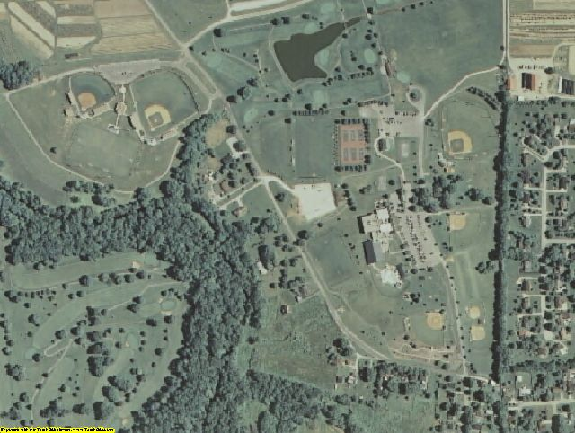 Shelby County, KY aerial photography detail