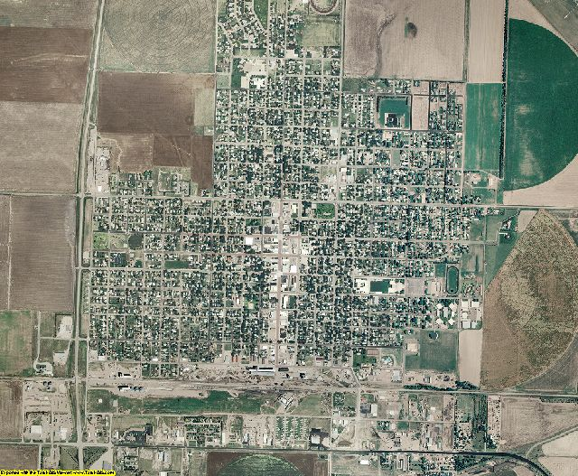 Sherman County, Kansas aerial photography