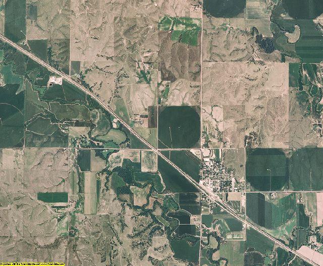 Sherman County, Nebraska aerial photography