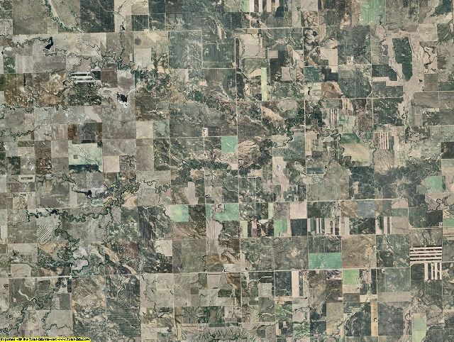 Slope County, North Dakota aerial photography