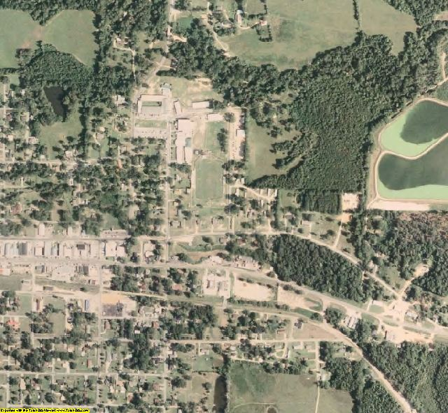Smith County, MS aerial photography detail
