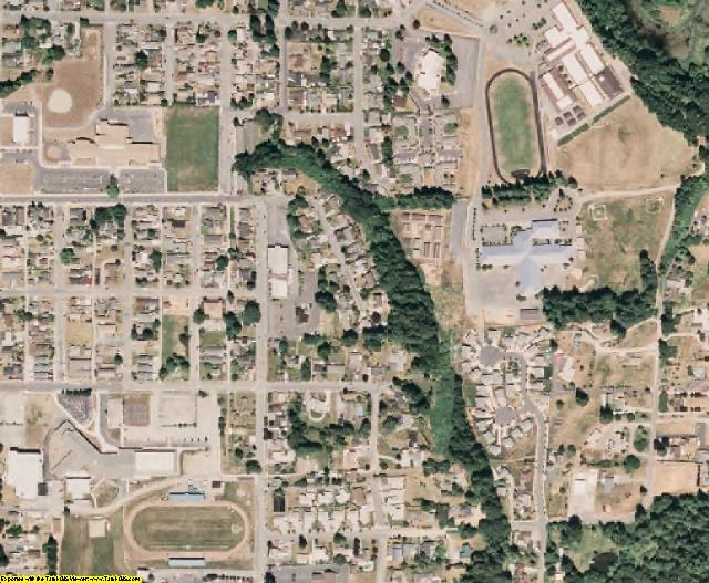 Snohomish County, WA aerial photography detail