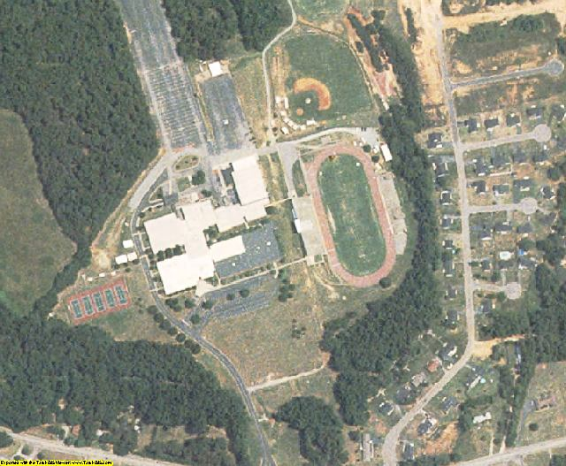 Spartanburg County, SC aerial photography detail