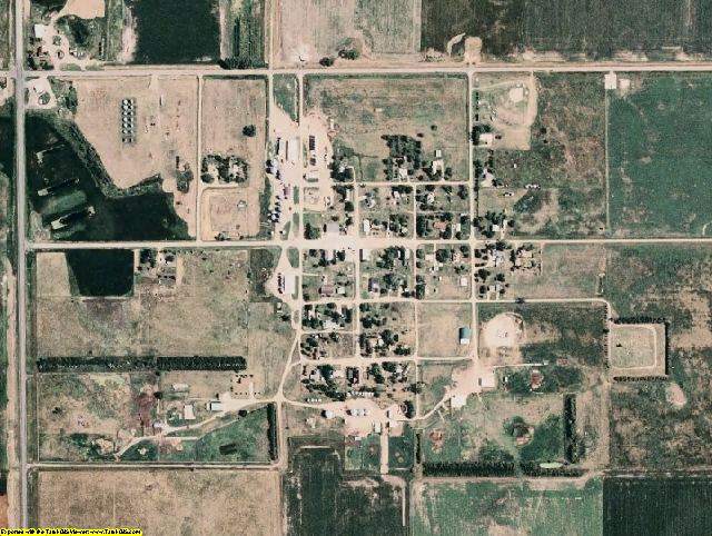 Spink County, SD aerial photography detail