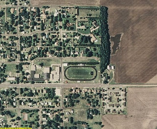 Stafford County, KS aerial photography detail