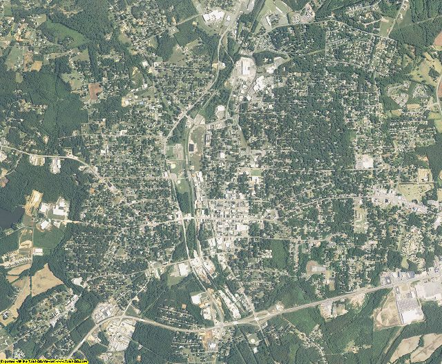 Stanly County, North Carolina aerial photography