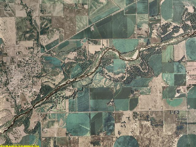 Stanton County, Nebraska aerial photography